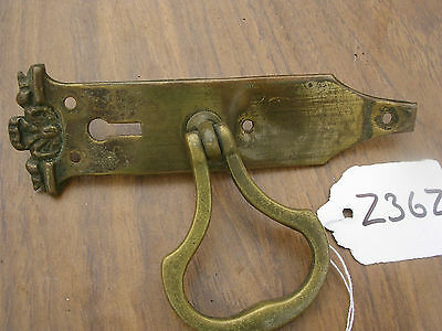Antique Art Nouveau  Brass Wardrobe Handle