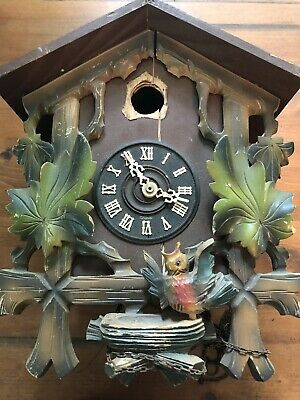 Vintage Cuckoo Clock E. Schmeckenbecher Germany Parts Repair Repair