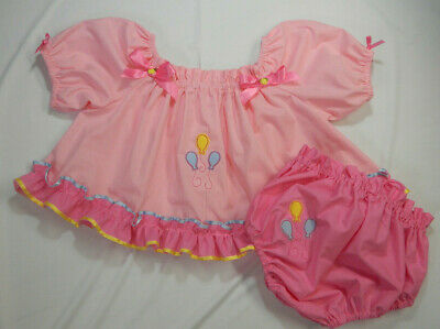 Adult Baby Sissy Littles MLP Pinkie Pie CROP TOP Diaper Cover Dress Up 2 pc Set