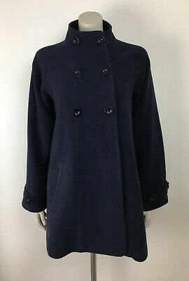 JoJo Maman Bebe Uk size 10 Navy Blue maternity swing coat wool blend smart