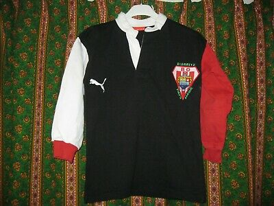 Ancien MAILLOT PUMA BO BIARRITZ OLYMPIQUE RUGBY PAYS BASQUE Jersey XXS Enfant