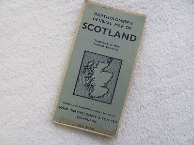 Vintage Bartholomew's Map of Scotland.