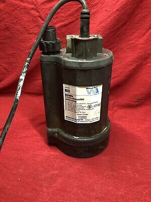 WATER ACE Model RES 1/4 HP SUBMERSIBLE SUMP PUMP