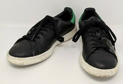 pretty nice 8c775 d041e ADIDAS ORIGINALS (BB0009) - Stan Smith - Boost Black & Green Shoes - Men's  US 6