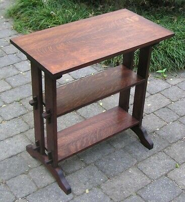 Replica ROYCROFT Little Journeys Bookstand- Arts and Craft, Mission style Table
