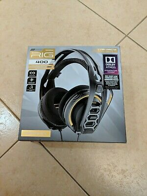 Plantronics RIG 400HX with Dolby Atmos Wired Gaming Headset for Xbox One - Black