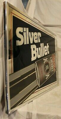 Vintage 1980's Coors Light Silver Bullet Sign, NOS, Rare Man Cave Sign