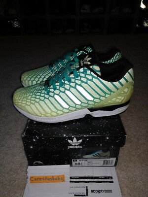 372cab47d Adidas ZX Flux Xeno Reflective Frozen Yellow Brand New Size 10.5 AQ8212