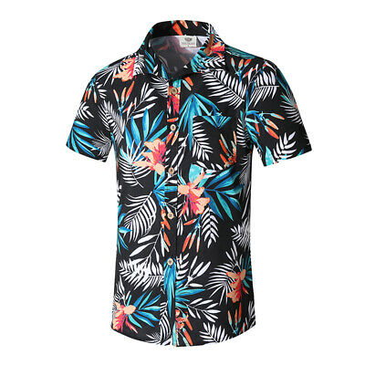 0c71b7da0 Cool Men's Hawaiian T Shirt Summer Holiday Floral Beach Short Sleeve Tops  Blouse