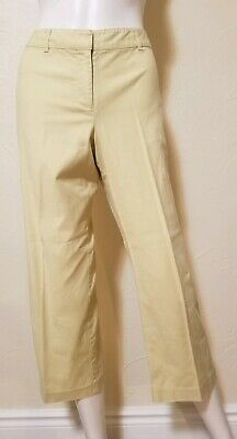 The Limited Womens Size 10 Stretch Green Crop Capri Pants Inseam 24