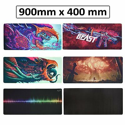 Extra Large Gaming Mouse Pad Desk Mat Anti-slip Rubber Speed Mousepad 27 Style