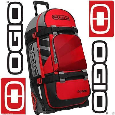 NEW Ogio Rig 9800 Wheeled Gear Bag Red / Hub from Moto Heaven