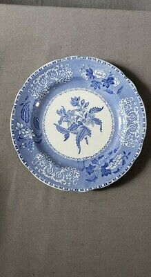 "Spode Salad or Dessert Plate 7 3/8"" Camilla Blue  - Old Blue Mark"