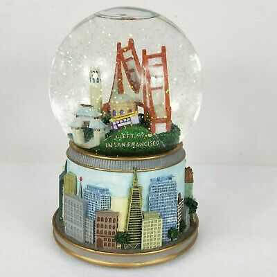 San Francisco Music Box Co Snowglobe Musical Glitter Left My Heart Pick Up Only