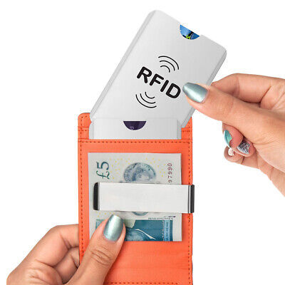 20Pcs Credit Card Blocking Anti Theft Protector RFID Secure Sleeve Case Shield