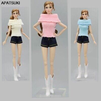 "Soft Knitted Woven Tops Clothes Sweater For 11.5"" Doll Clothes For Blythe Doll"