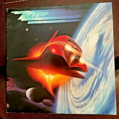 ZZ Top AFTERBURNER LP Album - Vinyl 1985 Warner Bros. Records 1-25342