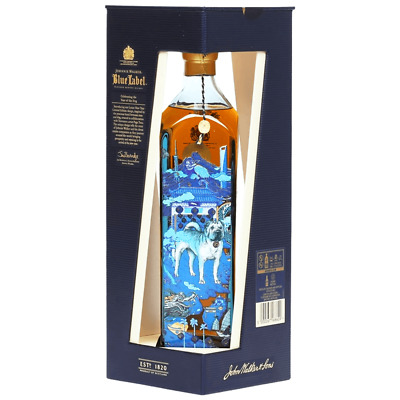 johnnie walker blue label SCOTCH WHISKY year of the dog - rare and deleted 750ml