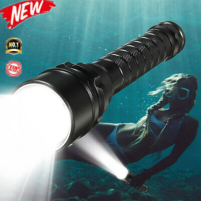 25000Lm T6 LED Scuba Diving Flashlight Torch Light Lamp Underwater Max 100m