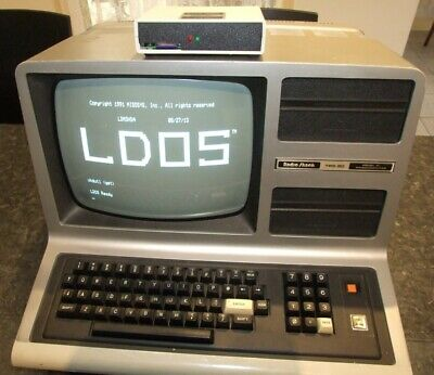 Tandy TRS-80 Model III 48K vintage computer with FreHD hard drive emulator