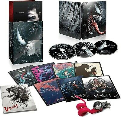 Venom Blu-Ray 3D/2D/Uhd 4K Limited Steelbook Japan Exclusive Amazon Sold Out Oop