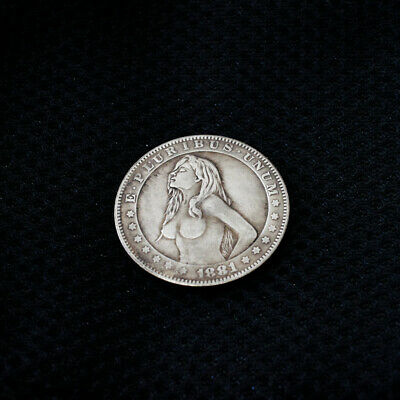 1880 US Morgan Silver Foreign Currency Coins Commemorative Collection Naked Girl