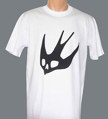 c6fa664a McQ Alexander McQueen men's T-shirt white color with black printed big  swallow