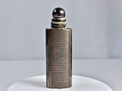 Vintage Tiffany & Co. Sterling Silver Ribbed Miniature Perfume Bottle