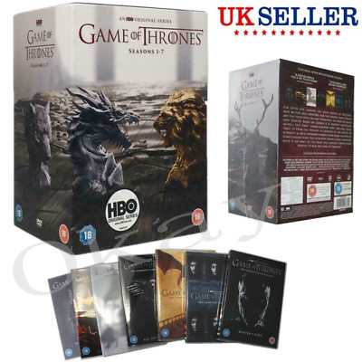 UK Game Of Thrones DVD The Complete Season 1-7 Sealed Box DVDs Set 1 2 3 4 5 6 7