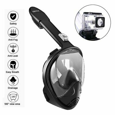 2019 Version Full Face Diving Snorkel Mask Security Buckle Fit Gopro Anti-Fog UK