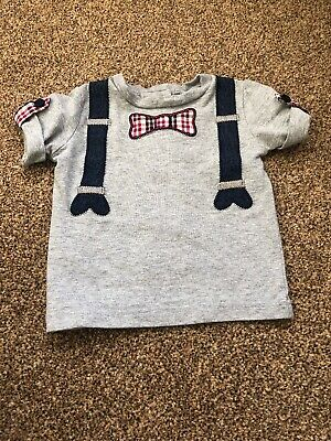 Wendy Bellissimo grey short sleeved cute smart top baby boys 3-6 months clothes