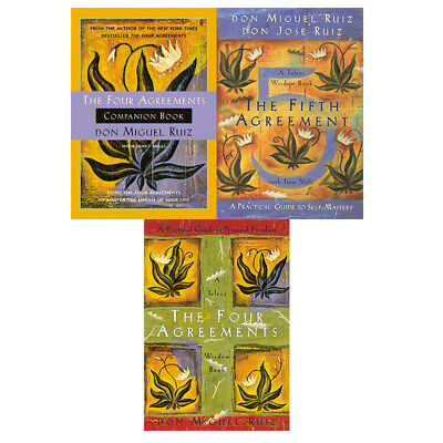 Four and Fifth Agreements Toltec Wisdom series Don Miguel Ruiz Jr. 3 books pack