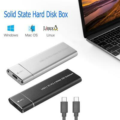 USB3.1 Type-C to M.2 M Key NVMe SSD Box Solid State Drive Housing Case Drive