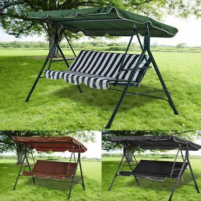 Big 2/3 Seater Garden Hammock Swing Seat Outdoor Patio Canopy Steel Bench Chair
