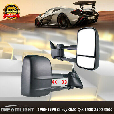 New Passenger//Right Side Manual Towing Mirror for GMC C//K 1500 2500 1988-1998