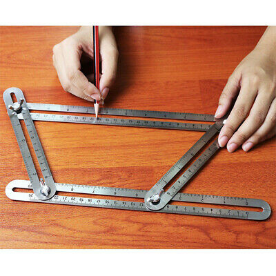 Stainless Steel Multi Angle Template Tool Heavy Duty Measuring Ruler