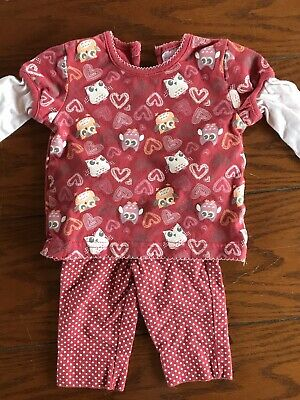 Baby Girls Outfit Top And Leggings Cherokee Size 0-3 Months