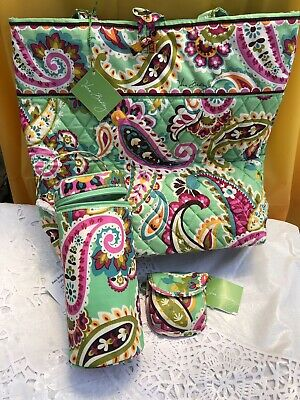 Vera Bradley Tutti Frutti Cotton Quilt Tote Bag Baby Bottle Caddy Pacifier Pod