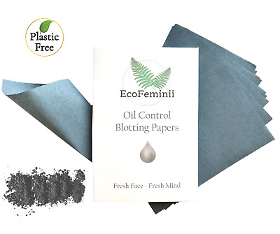 EcoFeminii Oil Control Blotting Papers- 100 Natural Hemp & Softwood Pulp Sheets