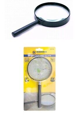 "Marksman Branded 4"" 100mm Magnifying Glass.Zooming,optical Reading 3X Glass Lens"