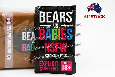 Bears vs Babies Board Game Core Deck/Expansion Pack Party Card Game Set AU STOCK