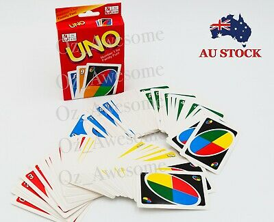 Uno Playing Cards Family Friends Fun Educational Traditional Board Game Pack Au