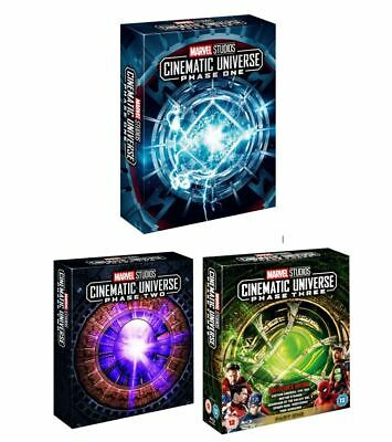 Marvel Studios Cinematic Universe Bluray - ALL THREE PHASES 1, 2 & 3 - ALL NEW!