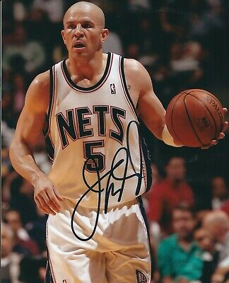 6c6b37981adc Signed 8x10 JASON KIDD New Jersey Nets Autographed Photo w COA