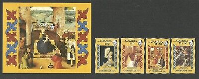 Gambia 1985 Christmas Art Paintings Madonna & Child Bosch David Bouts Campin Mnh