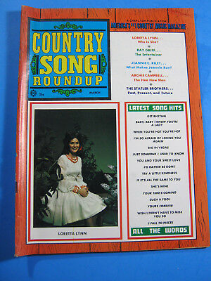1970 Country Song Roundup Magazine March Ray Griff  Loretta Lynn