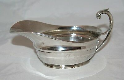 Antique Art Deco Martin, Hall & Co Silver Sauce Boat, Sheffield 1916 - 247g
