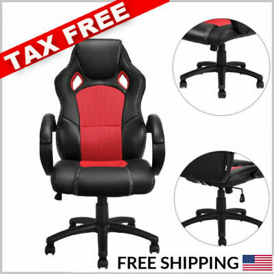 500 LB Heavy Duty High Back Desk gaming computer Chair racing Ergonomic leather