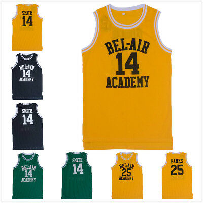 Will Smith the Fresh Prince Bel Air Academy Jersey Basketball Jersey Yellow 14#