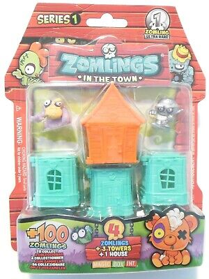 Zomlings in the Town Series 1 with Ultra Rare Smash Blister Tower Pack